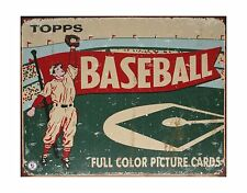 Topps Baseball 1954 Tin Sign 16 x 13in Free Shipping