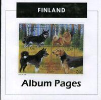 Finland - CD-Rom Stamp Album 1856-2017 Color Illustrated Album Pages