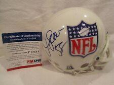 Junior Seau (Hall of Fame) Autographed NFL Shield Mini Helmet- PSA Certification