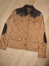 BNWT Miss Selfridge quilted style jacket tan with brown size 10