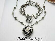 BRIGHTON Heart Swarovski Crystal Bead Necklace and Bracelet SET