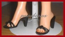 "2-1/8"" x 7/8"" BLACK High Heel SHOES for Miss Revlon CISSY 22"" American Models"