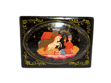 EXTREMELY RARE VINTAGE RUSSIAN COMPACT LACQUER BOX *PALEKH*!!!