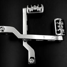 Zombie Skull Gear Shift Foot Lever & pegs For Harley Touring Softail