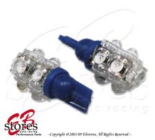 Set of 2pcs Blue Front Side Marker 9 Flux LED Light Bulbs 168 194NA- T10 Wedge