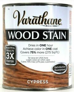 Varathane Wood Stain Results 3X Faster 266254 Cypress Dry In 1 Hour 32 Oz