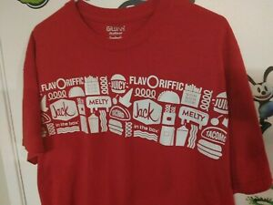 XL Jack In The Box Employee Official Team Member Red Shirt Fast food Adult