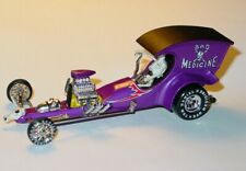 Tom Daniel BAD MEDICINE DRAGSTER COLLECTIBLE MUSCLE 1:43 -Purple, LOOSE
