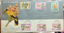 Singapore cover -1962 Definitives orchids stamps on FDC flowers canc KATONG