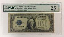 $1 1928A Silver Certificate PMG 25 Soiling FR1601 TA Block Woods | Melon