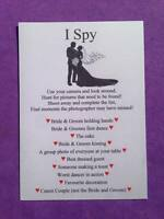 12 x Wedding I Spy Game Camera Game Table Favour Cards Fun Activity Adult Child