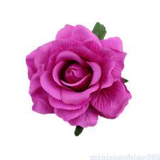 Silk Rose Flower Hair Clip Brooch Hairpin Wedding Bridal Hair Accessory Headwear