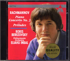 Boris BEREZOVSKY: RACHMANINOV Piano Concerto No.3 + 5 Preludes CD Eliahu INBAL