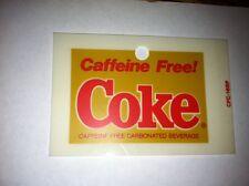 "Caffeine Free Coke Vending Machine Insert, Solid, 3.25"" x 2.25"""