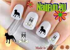"RTG Set#141 DOG BREED ""Pitbull 2 I Love"" WaterSlide Decals Nail Art Transfers"