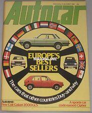 Autocar magazine 13/12/1980 featuring Colt Galant, Alvis Van Den Plas, Cipher