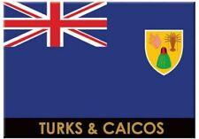 "TURKS & CAICOS FLAG CARIBBEAN FRIDGE COLLECTOR'S SOUVENIR  MAGNET 2.5"" X 3.5"""
