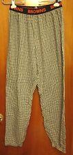 CLEVELAND BROWNS lrg football lounge pants NFL plaid sleeping pajama wear