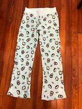 Joe Boxer Women's Pajama Lounge Pants Penguin Pattern Turquoise Size S Small