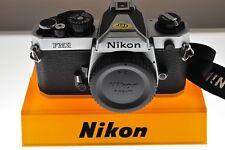 Nikon FM2n Fotocamera SLR d'argento, exc + + Condizione. + CINGHIA. GRANDE Pro-Grade macchina fotografica!