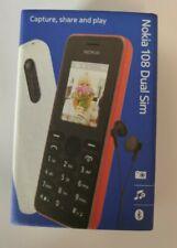 Nokia 108 Dual Sim Téléphone portable Noir débloqué tout opérateur