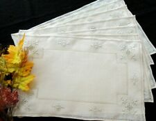17 Pc Placemats Napkins Runner Elegant Antique Italian Punto Antico Embroidery