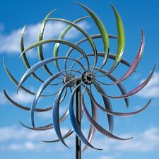 Garden Large Wind Spinner Yard Decor Outdoor Metal Art Kinetic Sculpture Rainbow