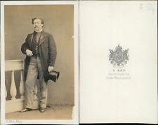 Ken, Paris, monsieur de Lenouenne CDV vintage albumen Tirage albuminé  6,5