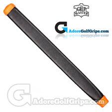 Il Grip Master pelle di capretto cuoio cuciti medie Pagaia Putter Grip-Nero/Arancione