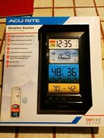 AcuRite Weather Station Color Display, Atomic Clock, Wireless Outdoor Sensor NEW