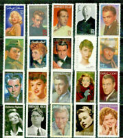 Legends of Hollywood USA Collection of 20 Different Mint NH USA Commemoratives