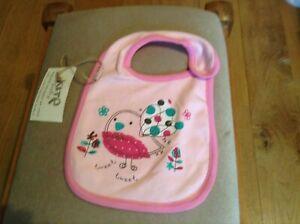 Kite kids pink baby bib