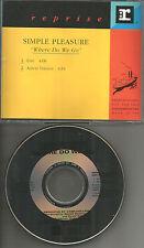 SIMPLE PLEASURE Where Do we go w/ RARE EDIT PROMO DJ CD single 1992 USA MINT