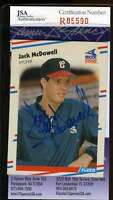 Jack Mcdowell Jsa Coa Autographed 1988 Fleer Rookie Authentic Hand Signed