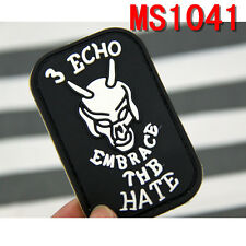 3 ECHO EMBRACE THE HATE Universal Rubber Patch Magic Stick Patches Hot Sale