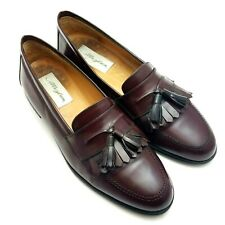 Mezlan Santander Mens Loafers Burgundy Leather Slip On Casual Shoes Size 10 M