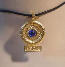 Historische Museums Replik SPQR römisches Siegesamulett Rom blau 54 AD Talisman