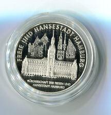 Medaille Freie und Hansestadt Hamburg Bürgerschaft Siber 999 M_1000