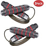 2 Packs Jump Ropes - Speed Skipping Rope Tangle Free Jumping Workout Fitness