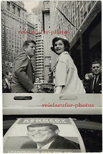 John & Jackie Kennedy in NY by Manfred Kreiner, Original 13 x 9 photo from 1960