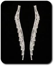 XL Ohrringe Chandelier 9cm Ohrhänger Ohrstecker Strass Design Braut Hochzeit Kla