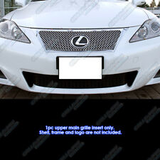 Fits 2012-2013 Lexus IS 250/350 Stainless Steel X Mesh Grille Insert