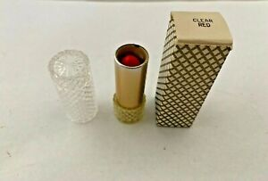 Vintage Avon Lipstick Clear Red New Old Stock