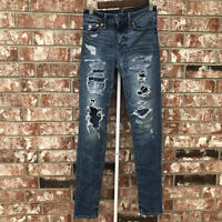 American Eagle Next Level Airflex Stacked Skinny Men's Jeans 26x28 Distressed