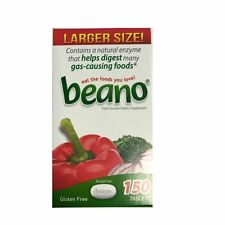 Beano Naturally Prevent Gas Relief Food Enzyme Dietary Supplement 150Tablet