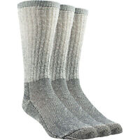 Rocky No Fly Zone Men's Crew Work Socks - 3 Pairs, Charcoal