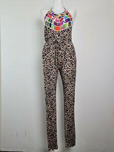 MARA HOFFMAN Halter Backless Long Pant Playsuit Romper Jumpsuit Women's Size XS