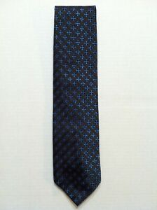 """CHRISTIAN LACROIX MENS GRAY 100%SILK CLASSIC NECK TIE WIDTH:3 1/2"""" MADE IN ITALY"""