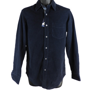 NWT Nautica Blue Corduroy Long Sleeve Button Up Shirt Men's Size XS