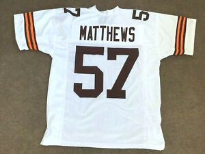 UNSIGNED CUSTOM Sewn Stitched Clay Matthews Jr. White Jersey - M, L, XL, 2XL